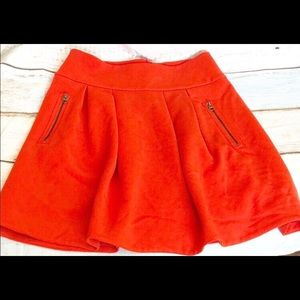 Maeve Red With Pockets Women's Skirt Size 10
